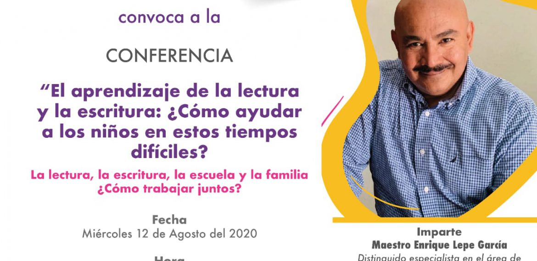 NUEVA FECHA PARA conferencia: aprendizaje de la lectura y la escritura, ¿Cómo ayudar a los niños en estos tiempo difíciles?