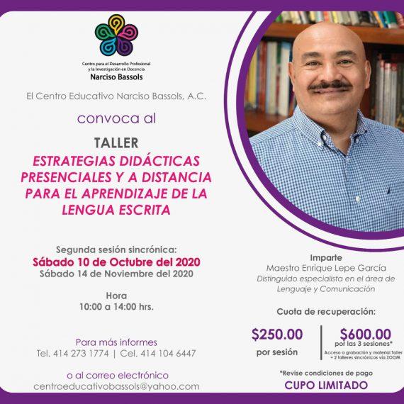 2da sesión del taller: estrategias didácticas presenciales y a distancia para el aprendizaje de la lengua escrita